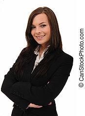verticaal, businesswoman