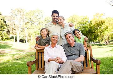 verticaal, gezin, vrolijke