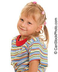 verticaal, het glimlachen meisje