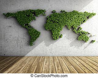 verticaal, kaart, tuin, vorm, wereld, kamer