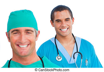 verticaal, mannelijke , positief, artsen