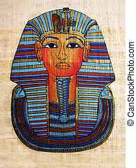 verticaal, papyrus, pharaoh
