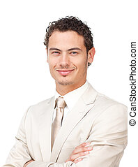 verticaal, spaans, charismatic, zakenman