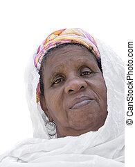 verticaal, vrouw, afro