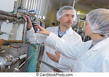 verticaal, werkmannen , farmaceutisch