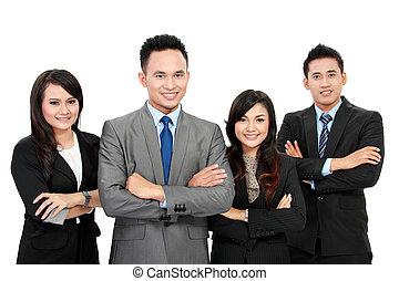 verticaal, werkmannen , het glimlachen, kantoor