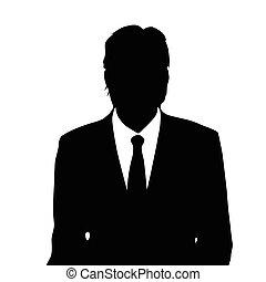 verticaal, zakenman, mannelijke , silhouette, pictogram
