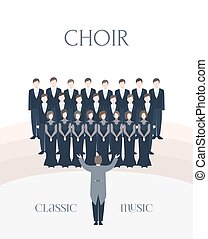 Vertical advertising poster of performance classical choir. ...
