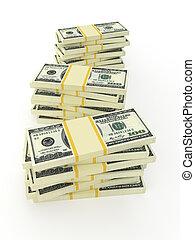vertical, argent, isolé, white., photo, pile