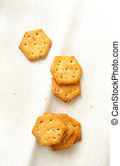 savory snack - vertical background of savory snack on white...