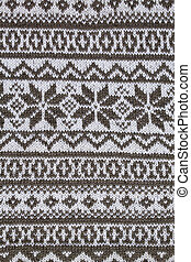 patterned jacquard knitted fabric