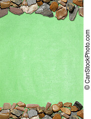 vertical background with stones and old paper 03
