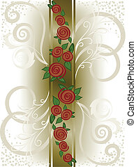 vertical band with roses