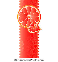 Vertical banner with grapefruit