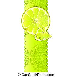 Vertical banner with lemon fruit