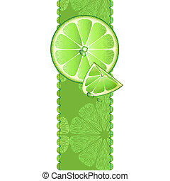 Vertical banner with lime fruit