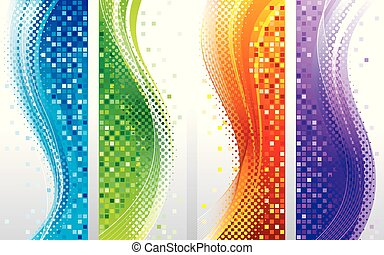 Vertical Banners Background Set