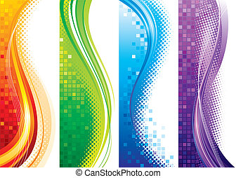 Vertical Banners - Design set of vertical modern backgrounds...