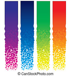 Vertical Banners - Set of colorful vector vertical banners