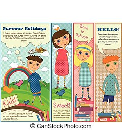 Vertical Banners with Cute Kids