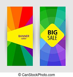 Vertical Banners with text big sale. Abstract summer vector back