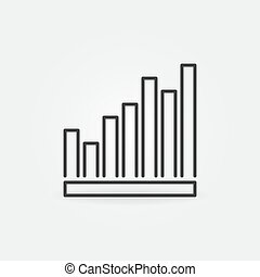 Vertical Bar Chart vector concept icon in thin line style