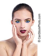 vertical beauty portrait of a girl