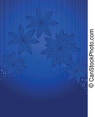 Vertical blue background