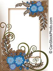 Vertical blue frame