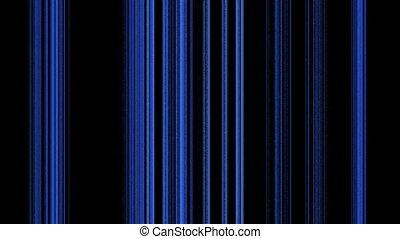Vertical Blue Lines on Black