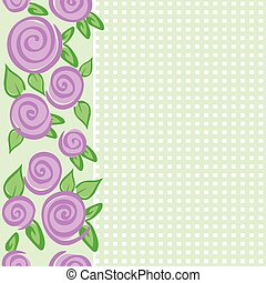 vertical border with roses
