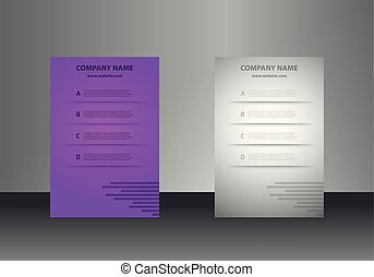 Vertical business cards print template. Personal business card with company logo. In colors sets. Clean flat design. Vector illustration. Business card mockup