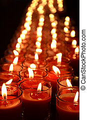 Vertical candle light