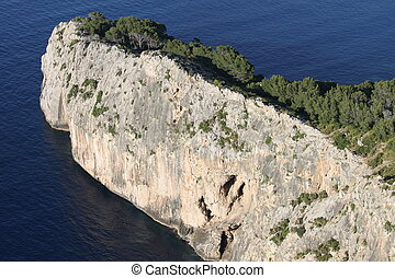 Vertical cliff on the sea