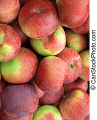 Vertical close up of apples - Vertical close up of pile of...