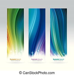 Vertical Colored Banners