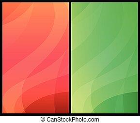 vertical, coloridos, dinâmico, abstratos, modernos, fundos, dois, patterns.