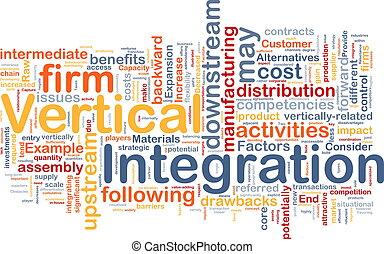 vertical, concepto, integración, plano de fondo