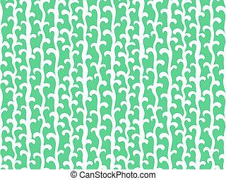 vertical, cor, padrão, aqua, videiras, verde