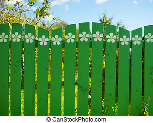 Vertical countryside fence background hd