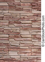 Vertical flat stacked stone wall