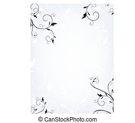 floral frame - Vertical floral frame in quiet colors with ...