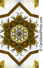 Vertical frame Angular hexagonal star made from the wood of a Chuppah