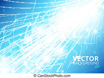 Vertical future technology abstract