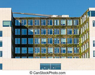 Vertical garden on modern building in Amsterdam