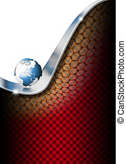 Vertical Globe Business Background