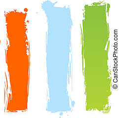 Vertical grungy multicolor banners