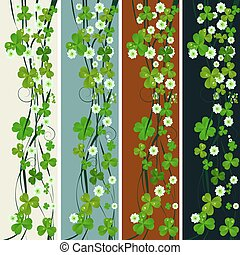 Vertical headers with St. Patrick