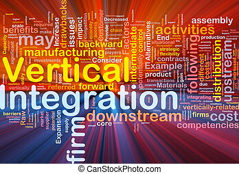 Vertical integration background concept glowing - Background...