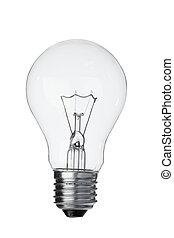 Vertical light bulb on a white background